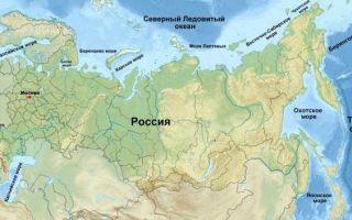 С кем граничит россия на море в 2020 году — список, на карте