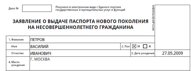 Бланк заявления на загранпаспорт нового образца (анкета) в 2020 году - образец, заполнения, ребенка