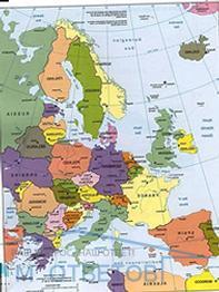 Страны, не имеющие выхода к морю в 2020 году - список, в Африке, Европе