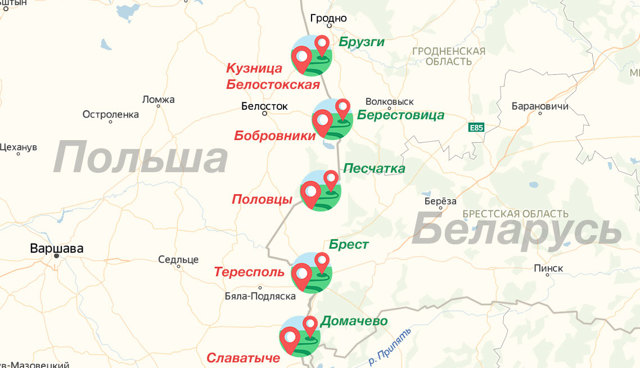 Очередь на границе с Польшей в 2020 году - онлайн, Берестовица, Брузги, Варшавский мост