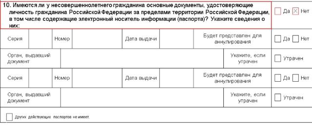 Бланк заявления о выдаче паспорта нового поколения в 2020 году - образец, несовершеннолетнего гражданина, скачать, заполнения