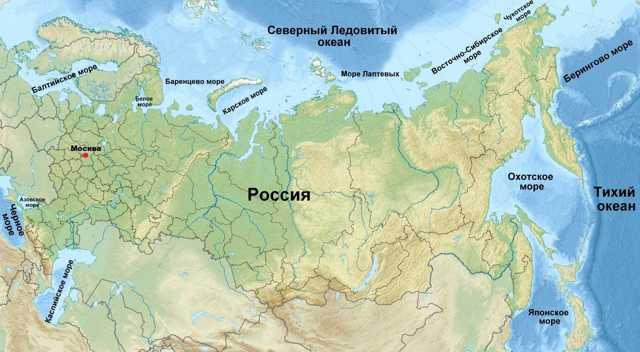 С кем граничит Россия на море в 2020 году - список, на карте