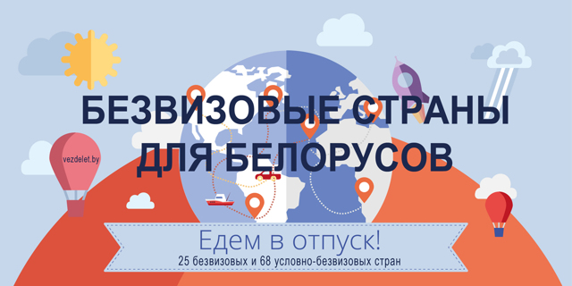 Безвизовые страны для белорусов в 2020 году - список, Европе, Азии, Америки, Африку